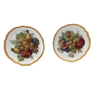 "Set of 4 German Porcelain Rosenthal Fruit Plates 8.75"" D Preview"