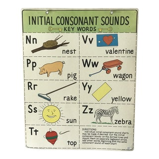 Vintage School Reading Chart