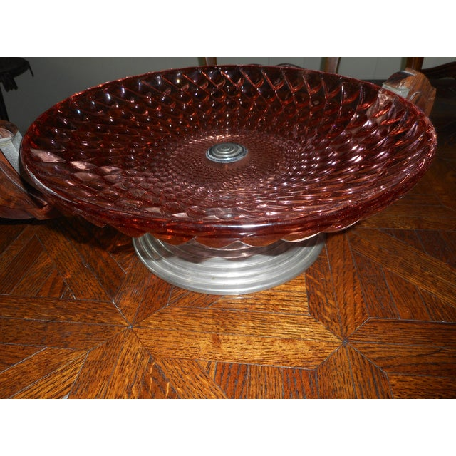 Glass French Art Deco Glass Bowl For Sale - Image 7 of 7