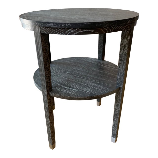 Contemporary Wooden Side Table For Sale
