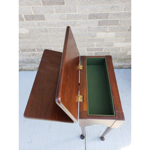 Antique French Mahagony Petite Games Table For Sale - Image 9 of 13