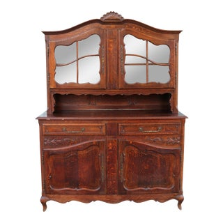 Antique Oak China Cabinet For Sale