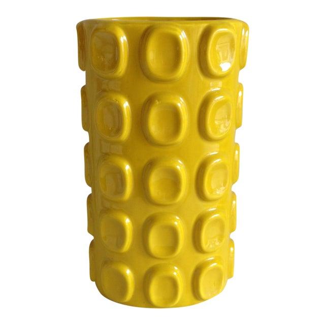 Modern Yellow Ceramic Vase - Image 1 of 10