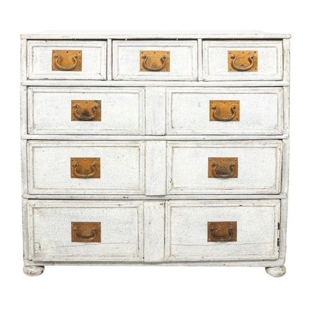 Baby Blue 1890s Painted French Commode For Sale - Image 8 of 8