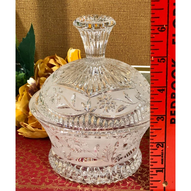 Vintage Crystal Dishes With Lids - Set of 3 For Sale In Phoenix - Image 6 of 12