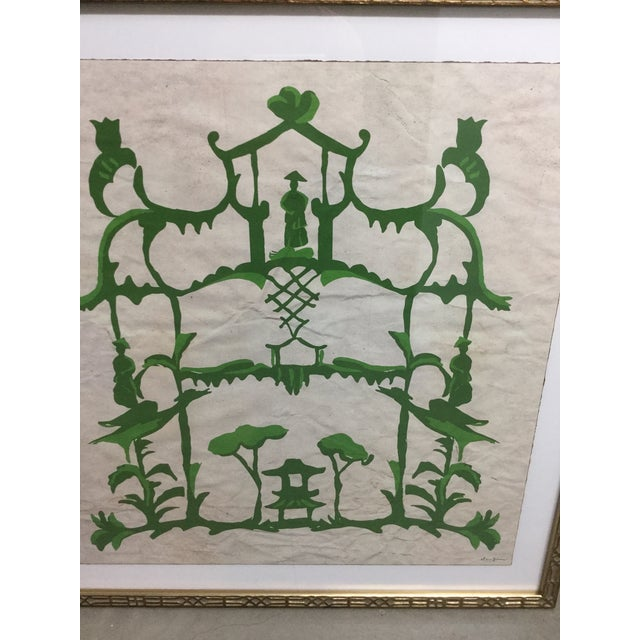 "Green Chinoiserie Print by Dana Gibson ""Folly and Green"""