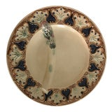 Image of 1880 Majolica Asparagus Plate For Sale