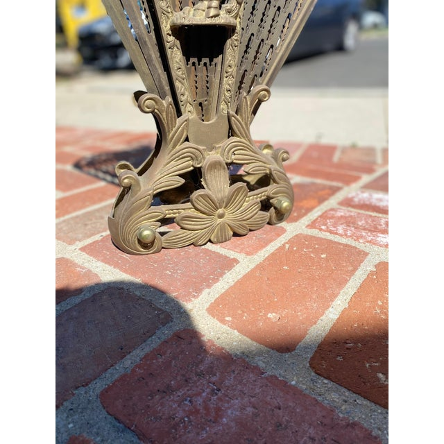 Gorgeous Brass Peacock fan style fireplace screen. Dimensions listed are of the screen wide open. When closed the...