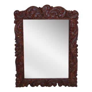 Hand-Carved Mirror For Sale