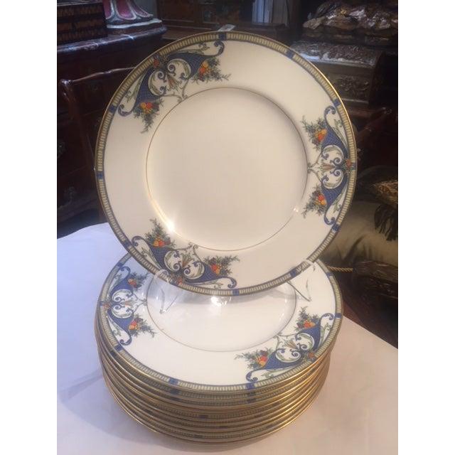 Royal Worcester Porcelain Dinner Plates - Set of 12 For Sale - Image 12 of 12
