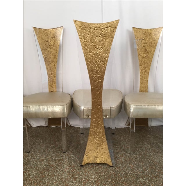 Vintage Glam & Unique Lucite Dining Chairs - Set of 6 - Image 3 of 9