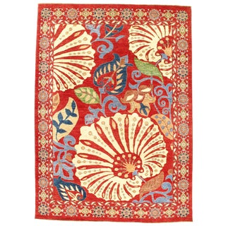 "Pasargad N Y Genuine Suzani Design Wool Rug - 8'1"" X 11'3"" For Sale"