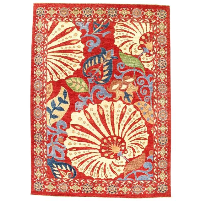 "Pasargad N Y Genuine Suzani Design Wool Rug - 8'1"" X 11'3"" For Sale"