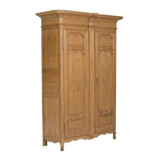 19th Century French Oak Armoire For Sale