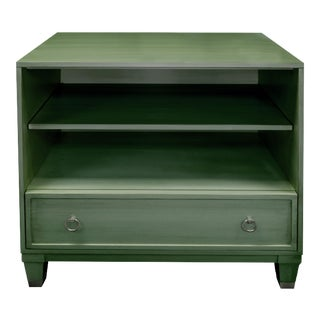 Boho Chic Chest Bookcase With Drawer in Loden For Sale