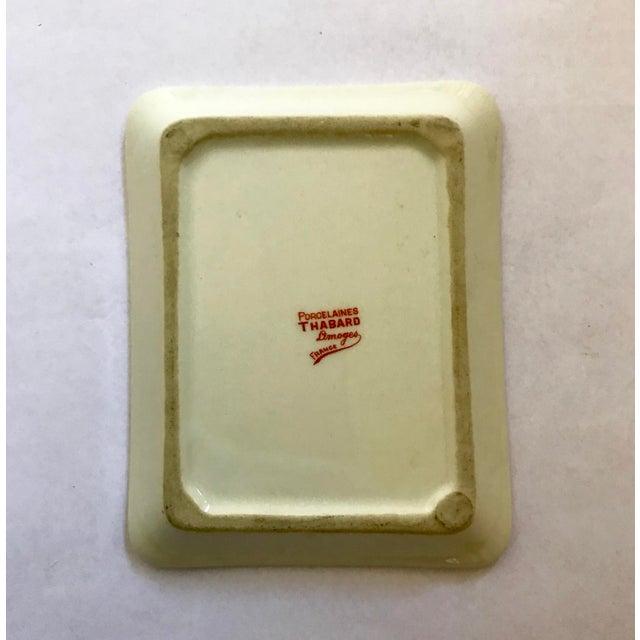 """Limoges, France Limoges France """"Cognac Adet"""" Porcelain Ashtray For Sale - Image 4 of 7"""