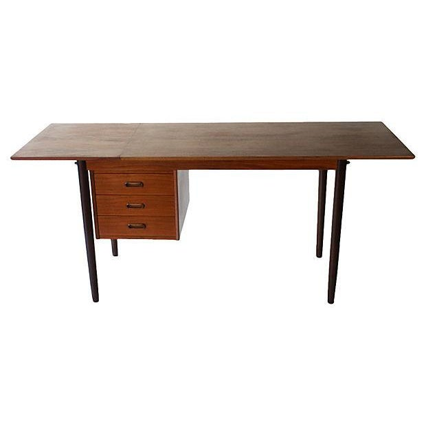 Danish Modern Drop-Leaf Desk by Arne Vodder for H Sigh - Image 5 of 7