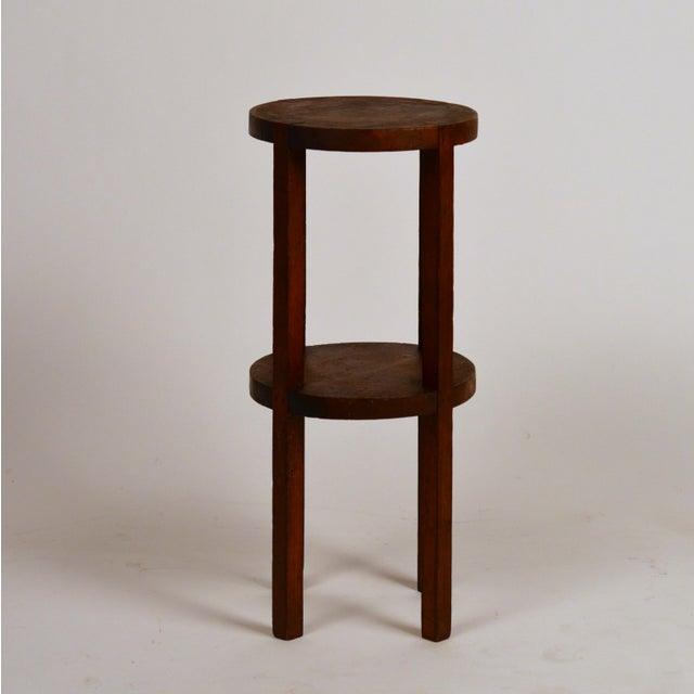 Arts & Crafts Slender American Arts & Crafts Oak Sellette Side Table For Sale - Image 3 of 7