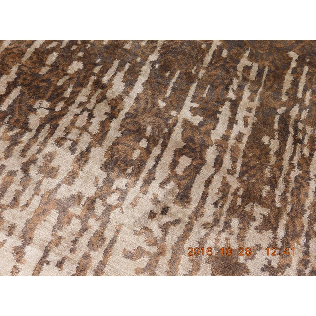 """Brown Contemporary Hand-Knotted Luxury Rug - 8' x 10'2"""" For Sale - Image 8 of 10"""