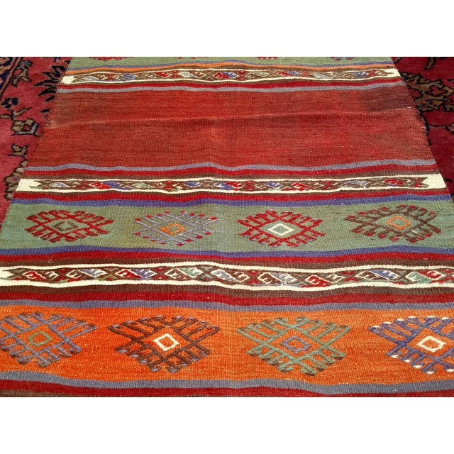 "Vintage Moroccan Kilim Runner Rug - 2' 3"" X 7' 10"" For Sale In Chicago - Image 6 of 13"