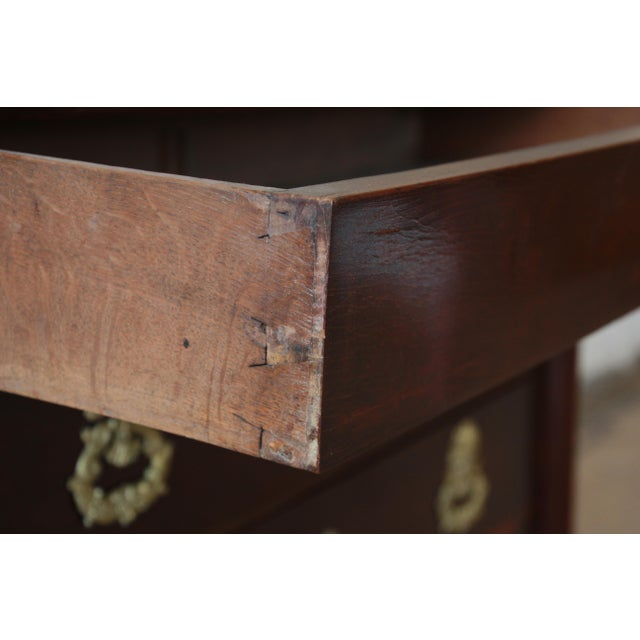 French Empire Mahogany Marble Top Commode Chest of Drawers, Circa 1850 For Sale - Image 10 of 13