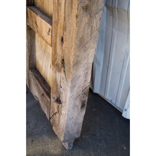 Antique Guadalajaran Exterior Swinging Mesquite Rustic Doors - A Pair For Sale - Image 10 of 11