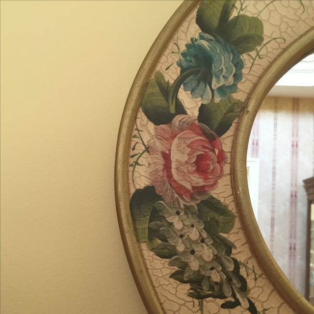Vintage Hand-Painted Mirror - Image 3 of 6