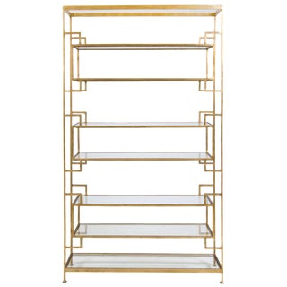 Worlds Away Lamar Gold Etagere For Sale