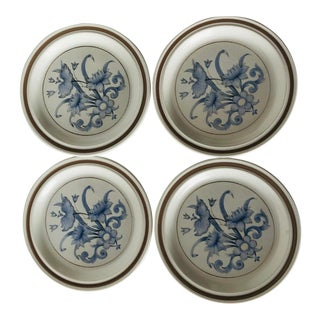 Vintage Royal Doulton Lambethware Set of 4 Salad Plates For Sale