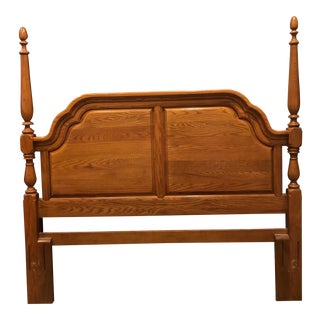 1990s Traditional Sumter Cabinet Company Queen/Full Panel Poster Headboard For Sale
