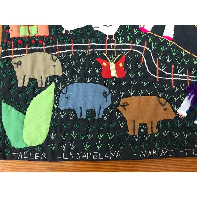 Handmade Columbian Folk Art Embroidery - Image 3 of 6
