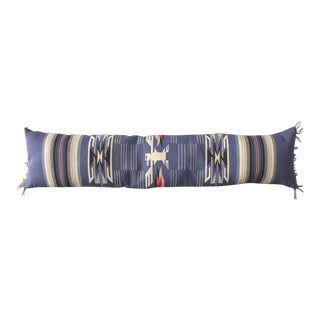 Monumental Mexican Indian Weaving Bolster Pillow with a Eagle Motif For Sale