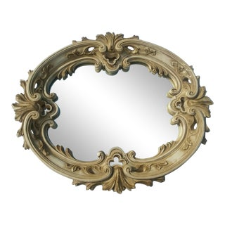 Antique Universal Statuary Plaster Wall Mirror For Sale