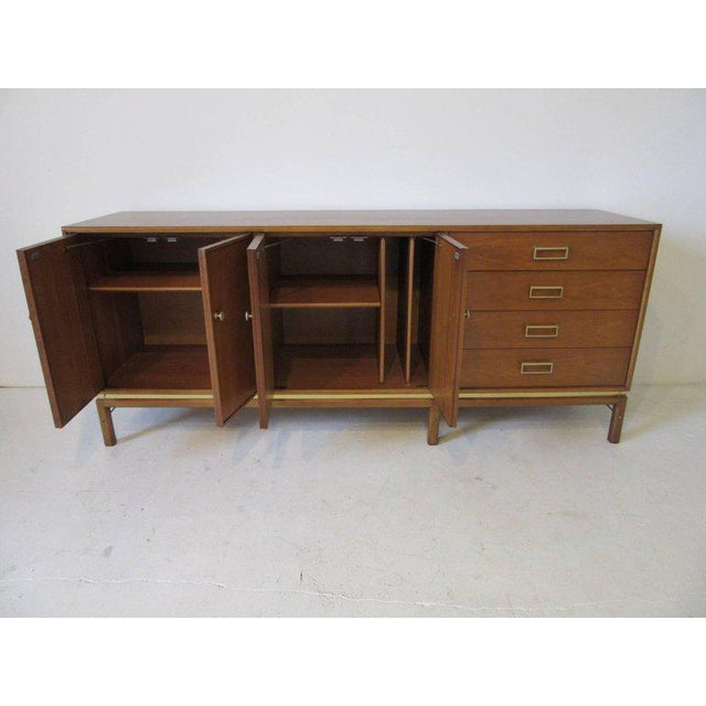 Kip Stewart Mid-Century Mahogany and Brass Server or Sideboard for Drexel For Sale - Image 9 of 9