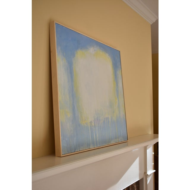 "Blue Stephen Remick ""Spring Equinox"" Abstract Painting For Sale - Image 8 of 10"