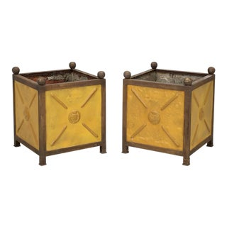French Orangerie Jardinière Planters - a Pair For Sale