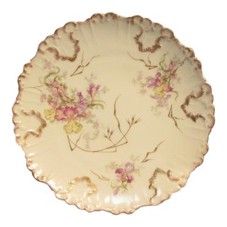 1890 Antique Blakeman & Henderson Limoges Plate For Sale