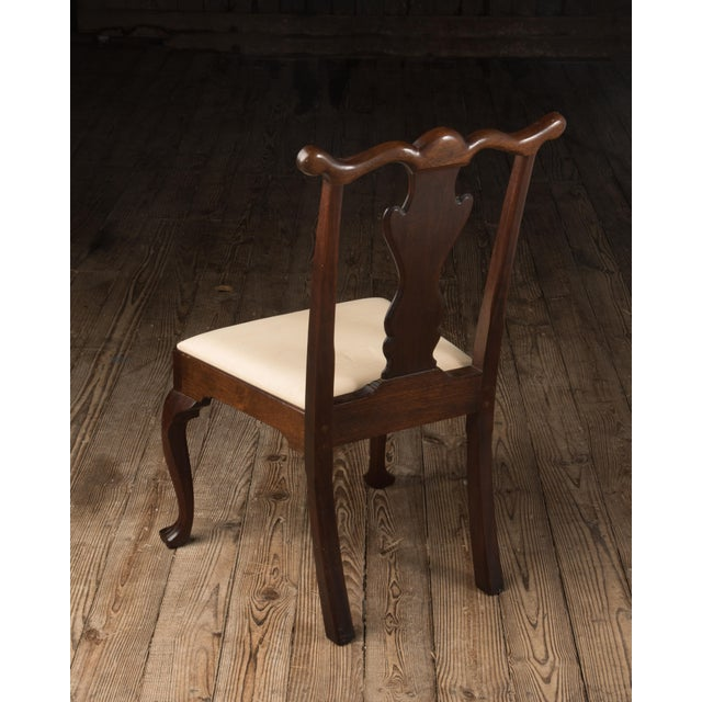 1990s 1990s Vintage Madison Square Furniture Chippendale Style Mahogany Side Chair For Sale - Image 5 of 13