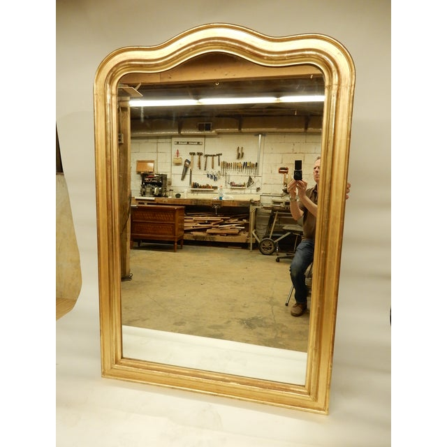 Louis Philippe Gold Gilt Mirror For Sale - Image 10 of 10