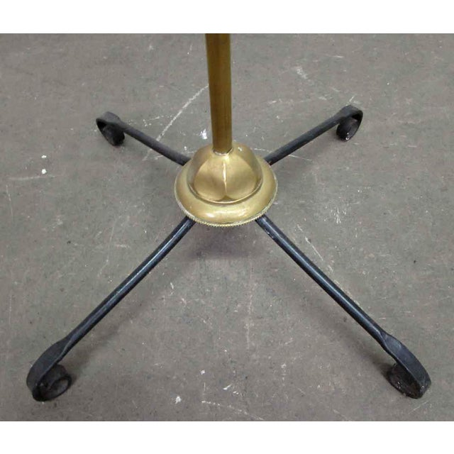Brass Turn of the Century Brass Standing Lamp For Sale - Image 7 of 9