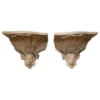 Empire Figural Architectural Bracket - 19th Century For Sale