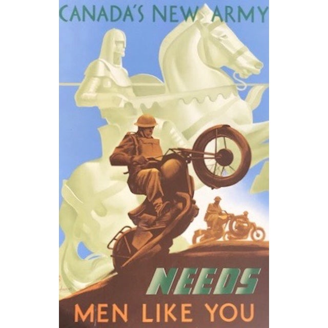 1940s Canadian Wwii Poster, Canada's New Army Needs Men Like You For Sale - Image 4 of 6