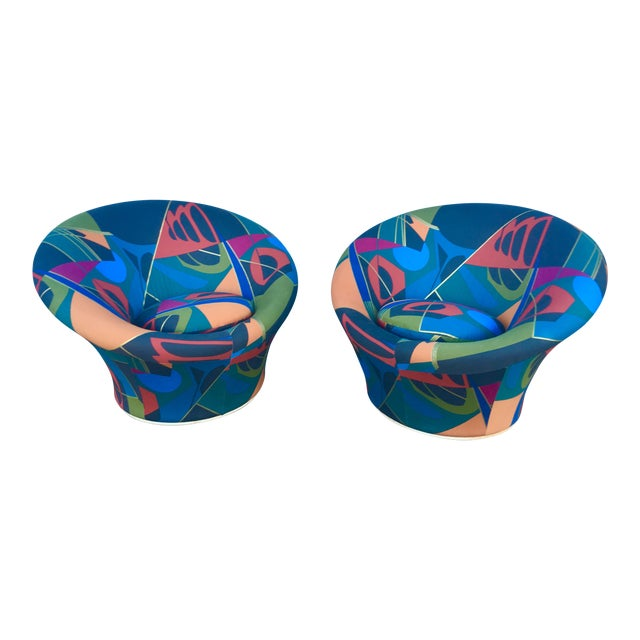 Mid Century Modern Pierre Paulin for Artifort F560 Mushroom Chairs- A Pair For Sale