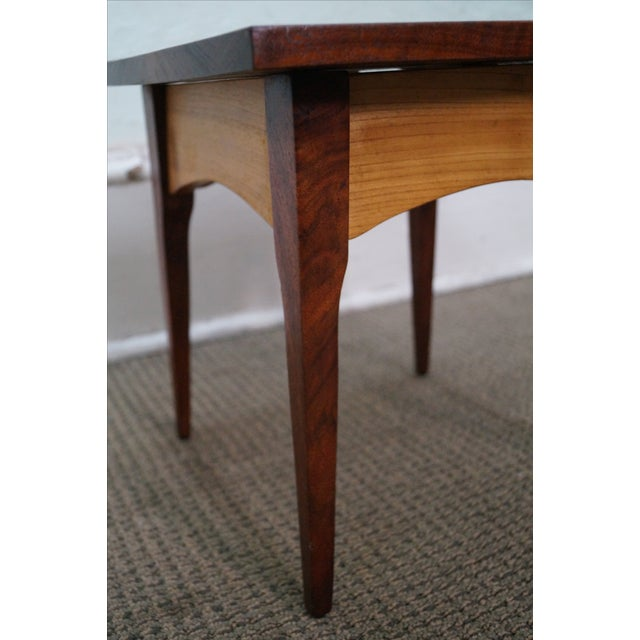 Hand-Crafted Solid Walnut Side Table - Image 5 of 10