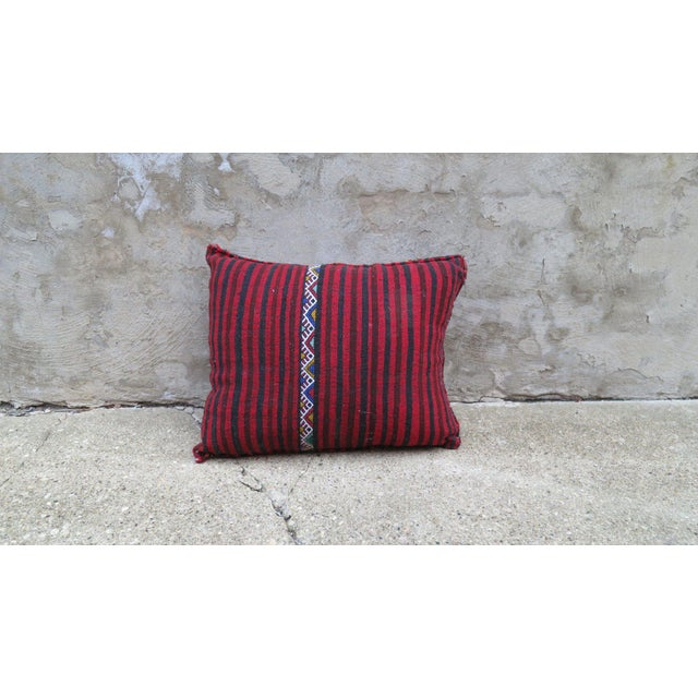 Islamic Miami Vice' Moroccan Berber Wool Pillow For Sale - Image 3 of 3