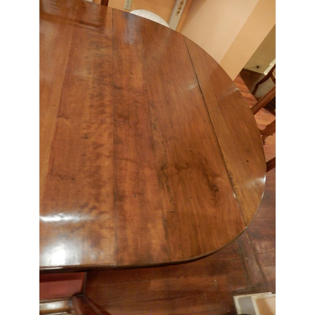 Wood French Walnut Extension Dining Table For Sale - Image 7 of 12