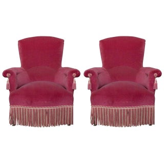 19th Century Antique Napoleon III Armchairs-a Pair For Sale