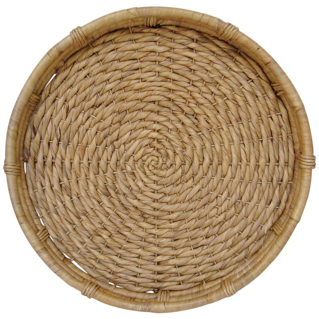 Oversize Woven Grass Hanging Basket For Sale