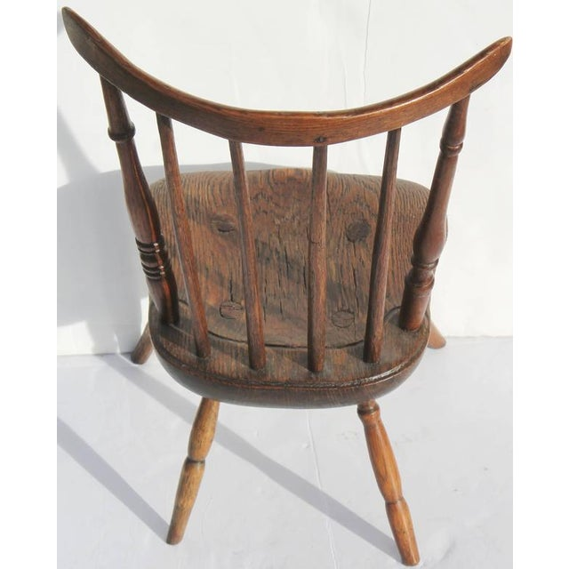 Early and Rare 19th Century Rare Child's Windsor Chair For Sale In Los Angeles - Image 6 of 10