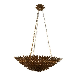 Crystorama Contemporary Gold Metal Chandelier For Sale